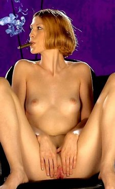 Perky boobed Zoie smoke with her tight pussy12